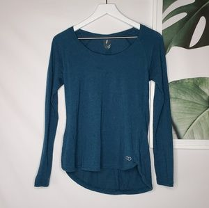 Calia by Carrie Underwood Blue Long Sleeves Top